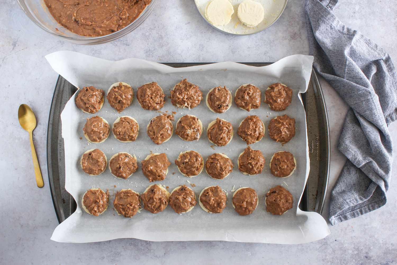 Put on baking tray