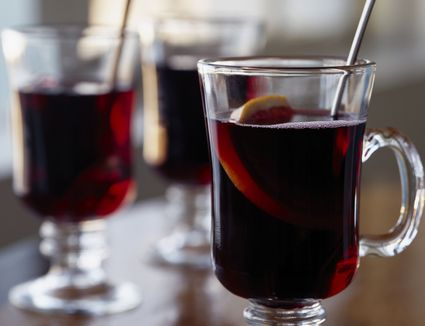 Mulled Spiced Cherry Punch With Whiskey