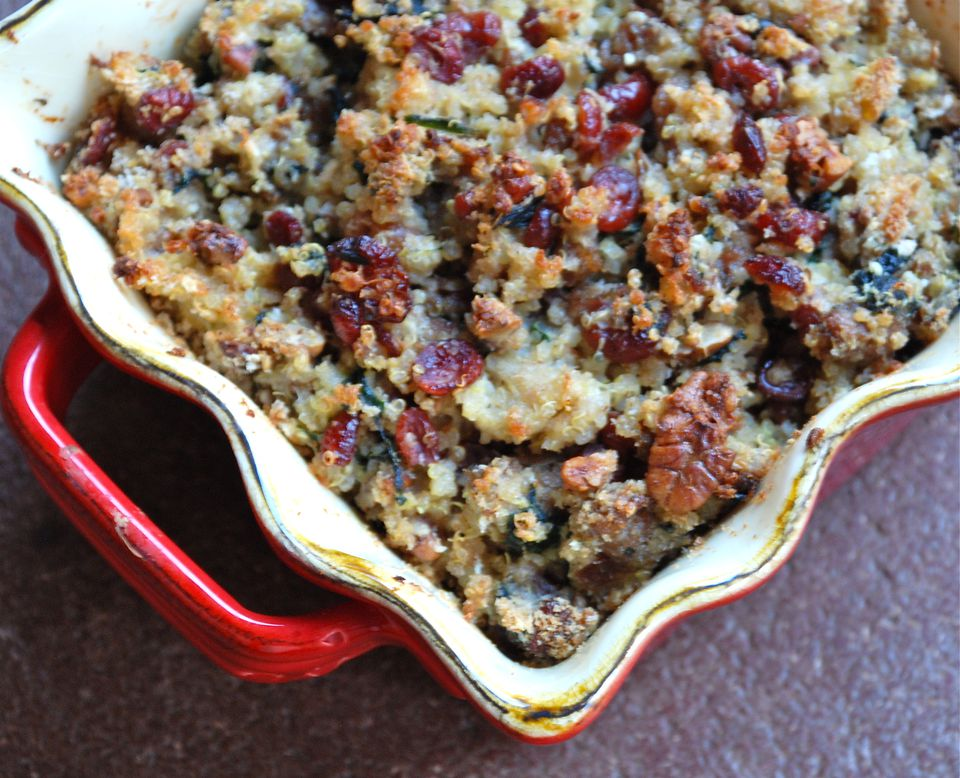 Quinoa sausage casserole - pastel de quinoa