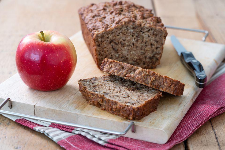 Pan de compota de manzana