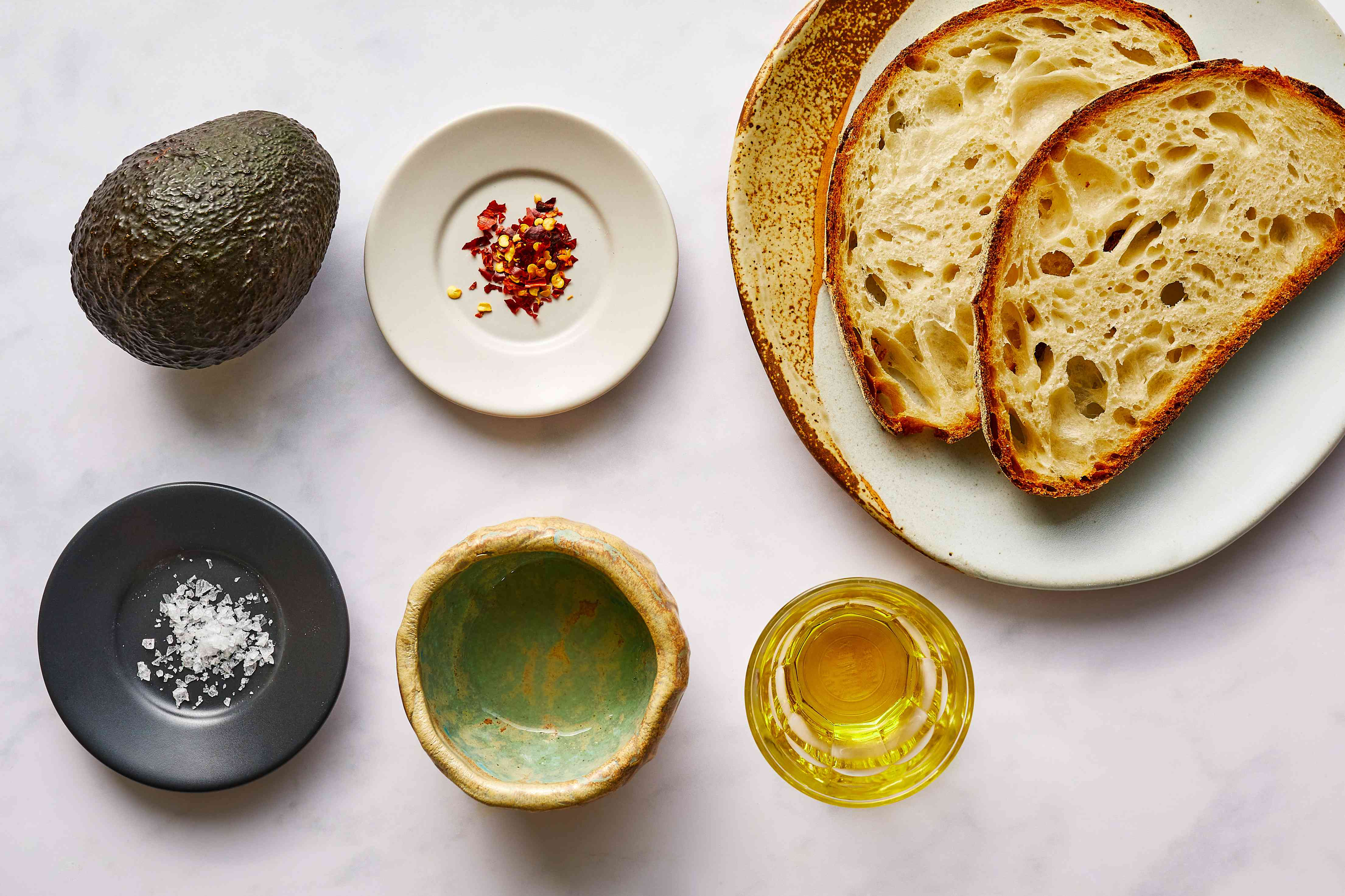 ingredients for avocado toast