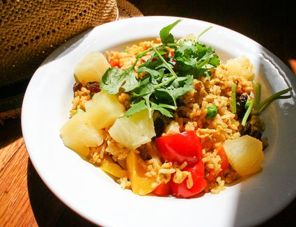 Thai Curry Fried Rice with Pineapple