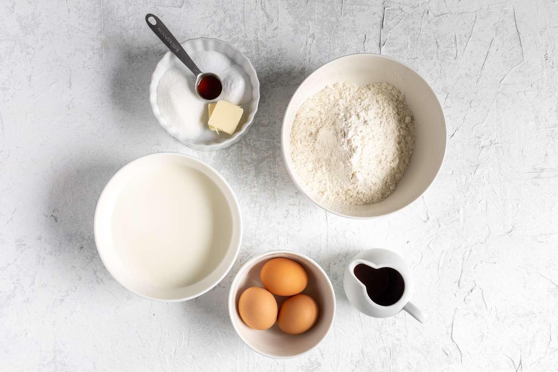 Easy vanilla pancakes ingredients