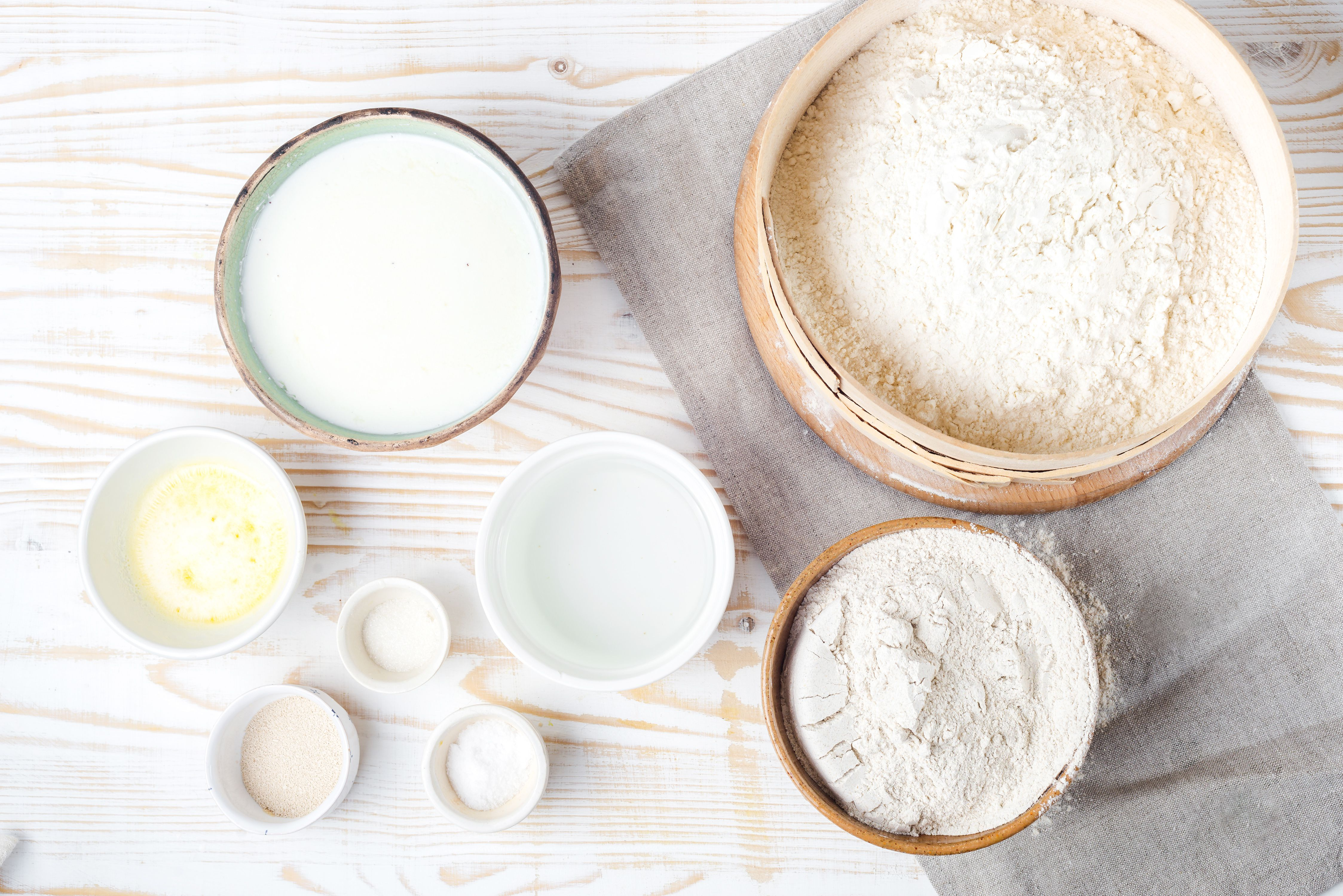 Ingredients for Polish buttermilk rye bread