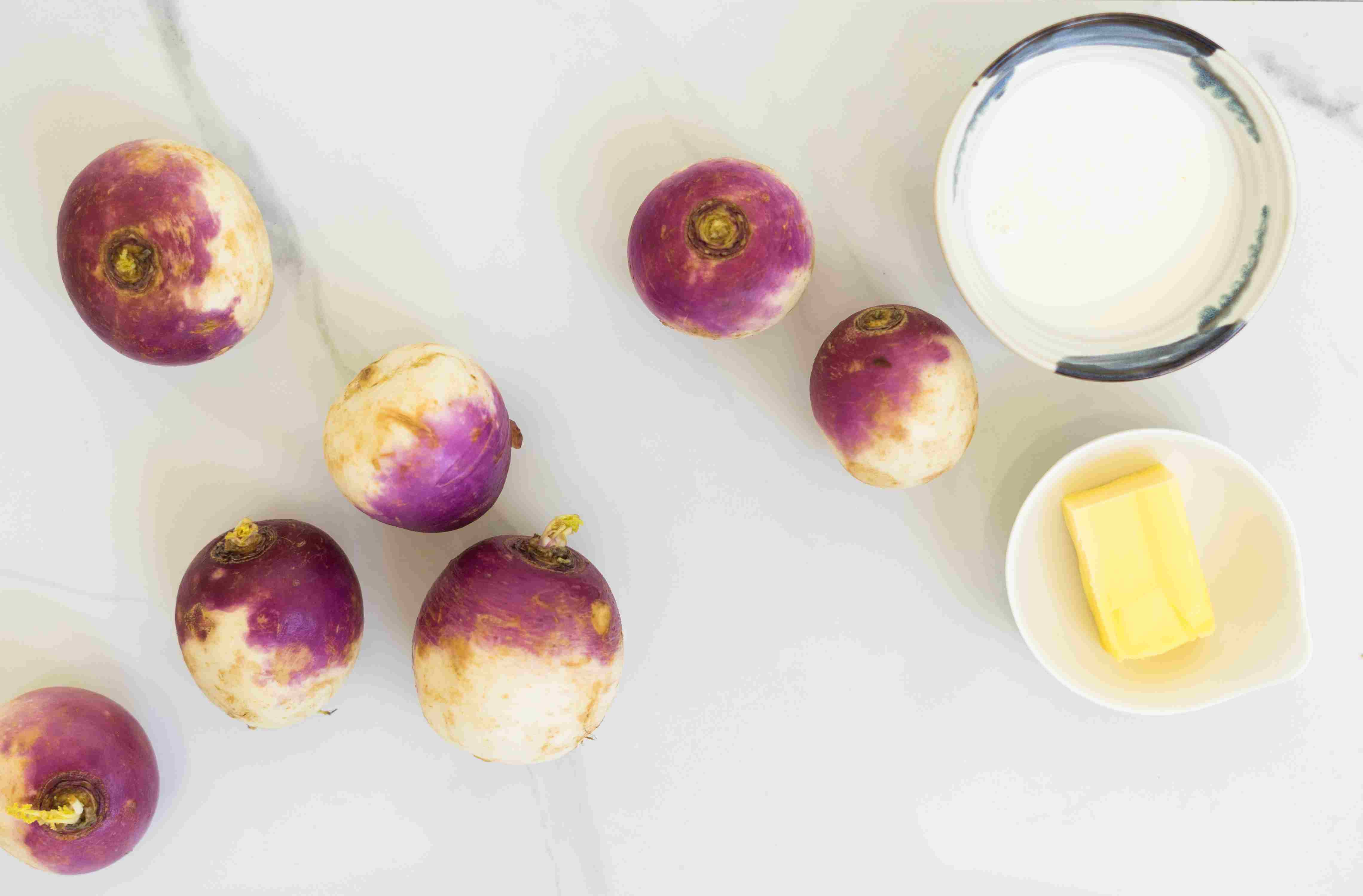 Ingredients for mashed turnips