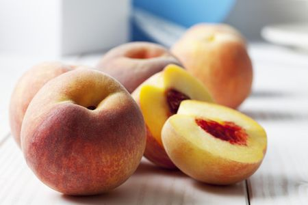 Image result for peaches with chutney