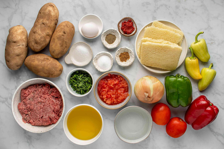 Turkish Meatball and Potato Casserole ingredients