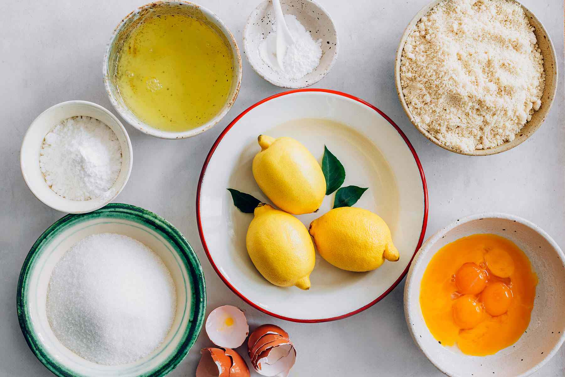 Flourless Italian almond-lemon cake ingredients