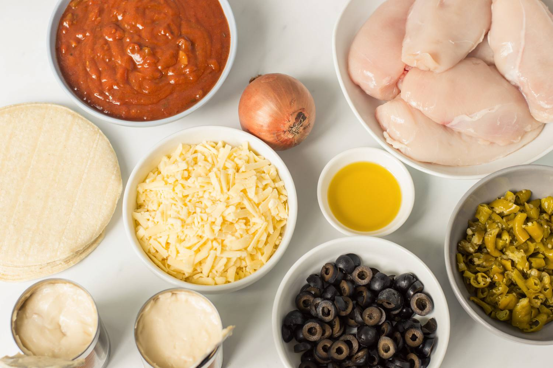 Crock pot chicken enchiladas ingredients