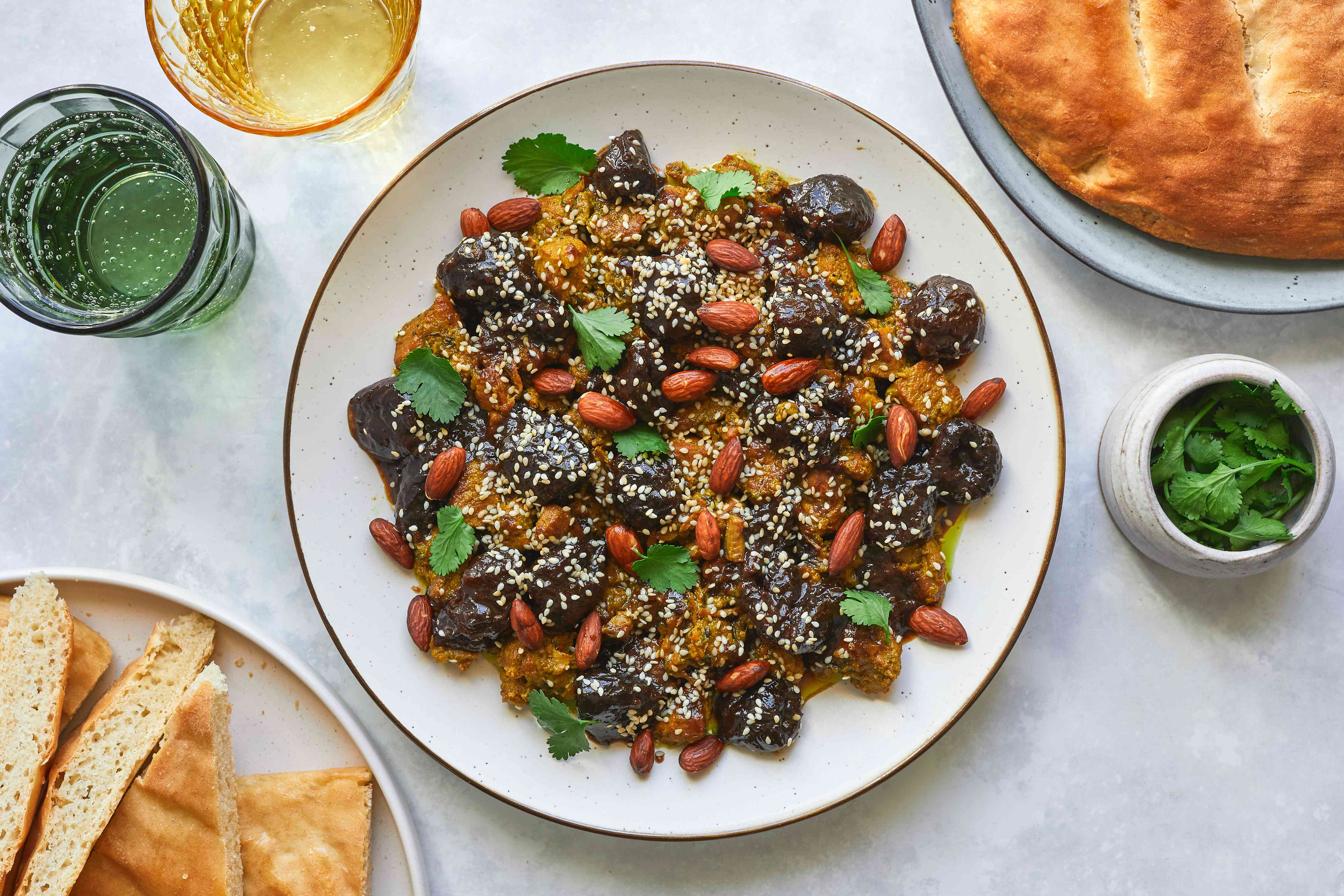 Pressure Cooker Moroccan Lamb or Beef Tagine With Prunes