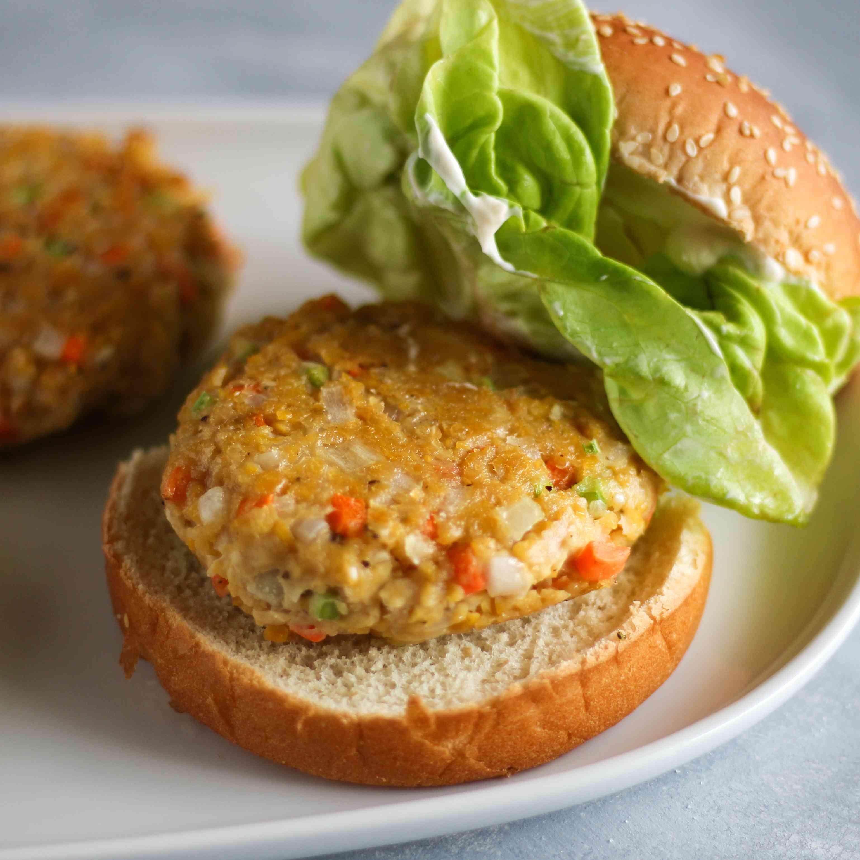Vegan Chickpea Veggie Burgers Tester Image