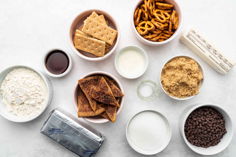 Chocolate Chip Cookie Dough Dip ingredients