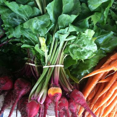 Beets and Carrots at Market