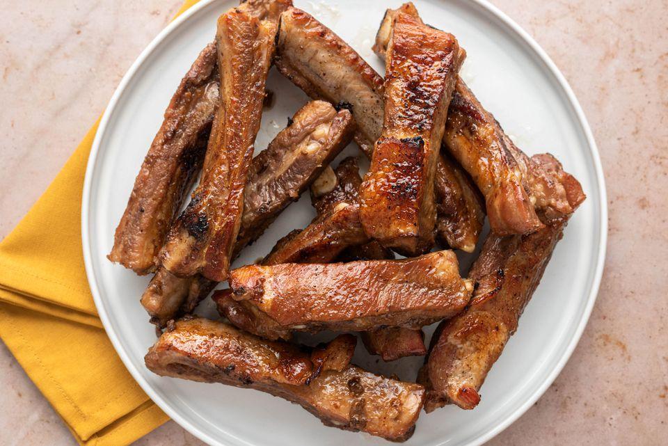 Baked Honey Garlic Spare Ribs