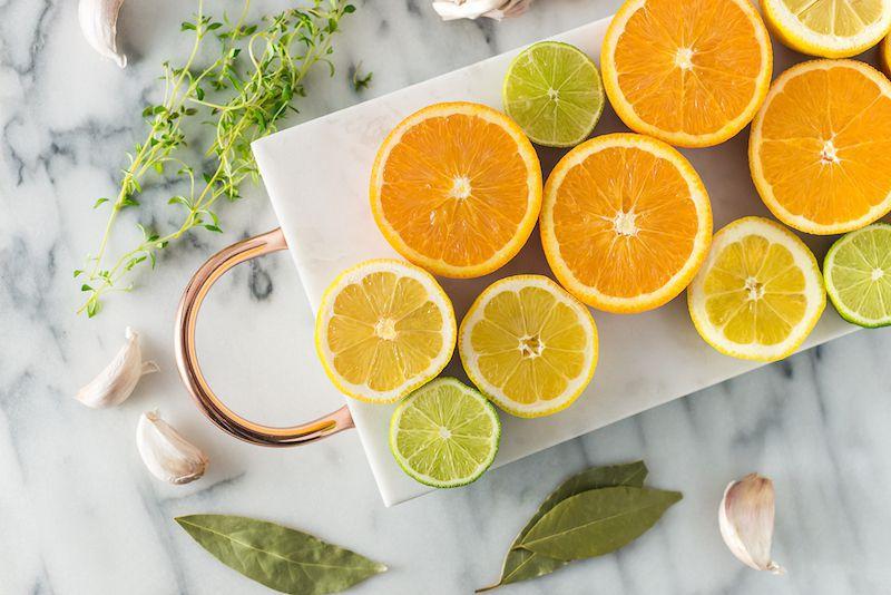 Citrus and herb ingredients for turkey brine