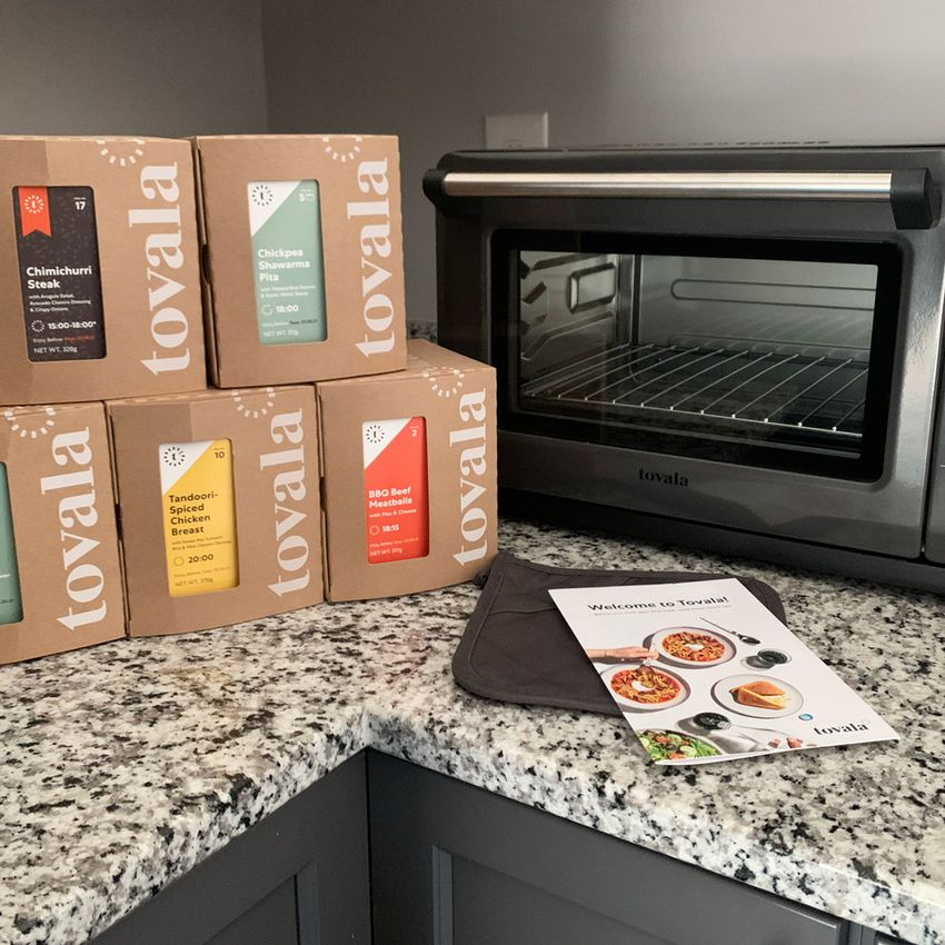 Tovala meals in package and smart oven