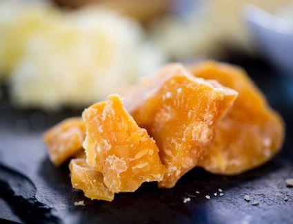 Aged Gouda Cheese On Slate Platter