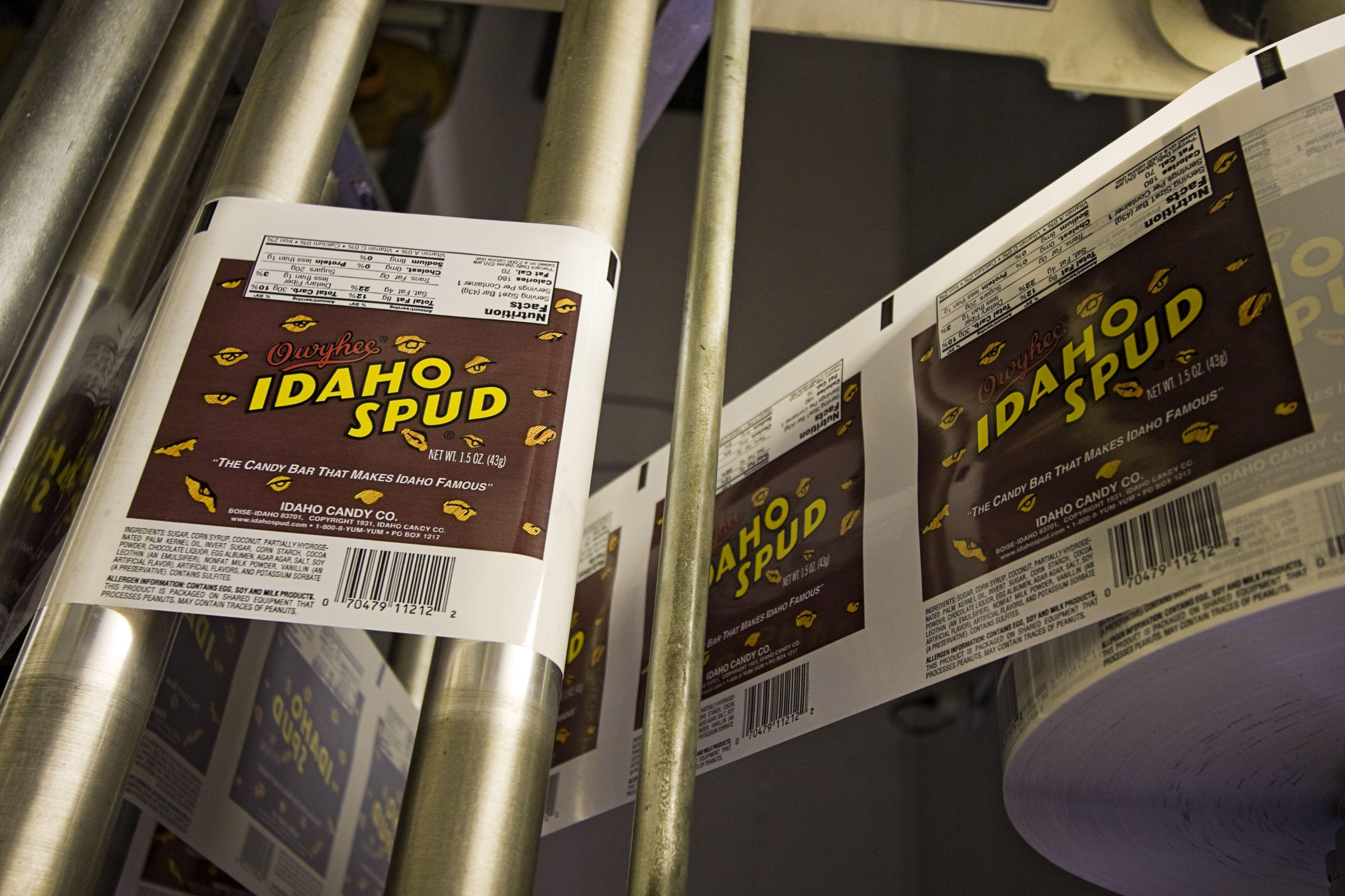 Machinery in the Owyhee Idaho Candy Company of Boise, Idaho, USA