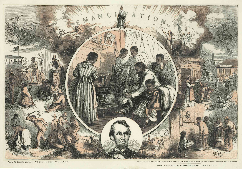 Emancipation Proclamation engraving
