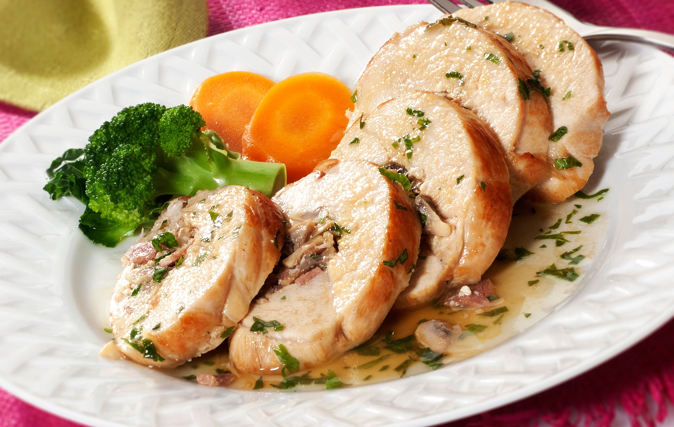 Chicken Breasts Stuffed With Cheese and Mushrooms