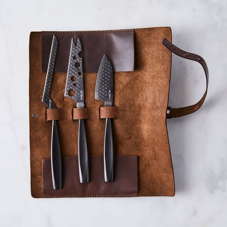 Monaco+ Black Cheese Knife Set