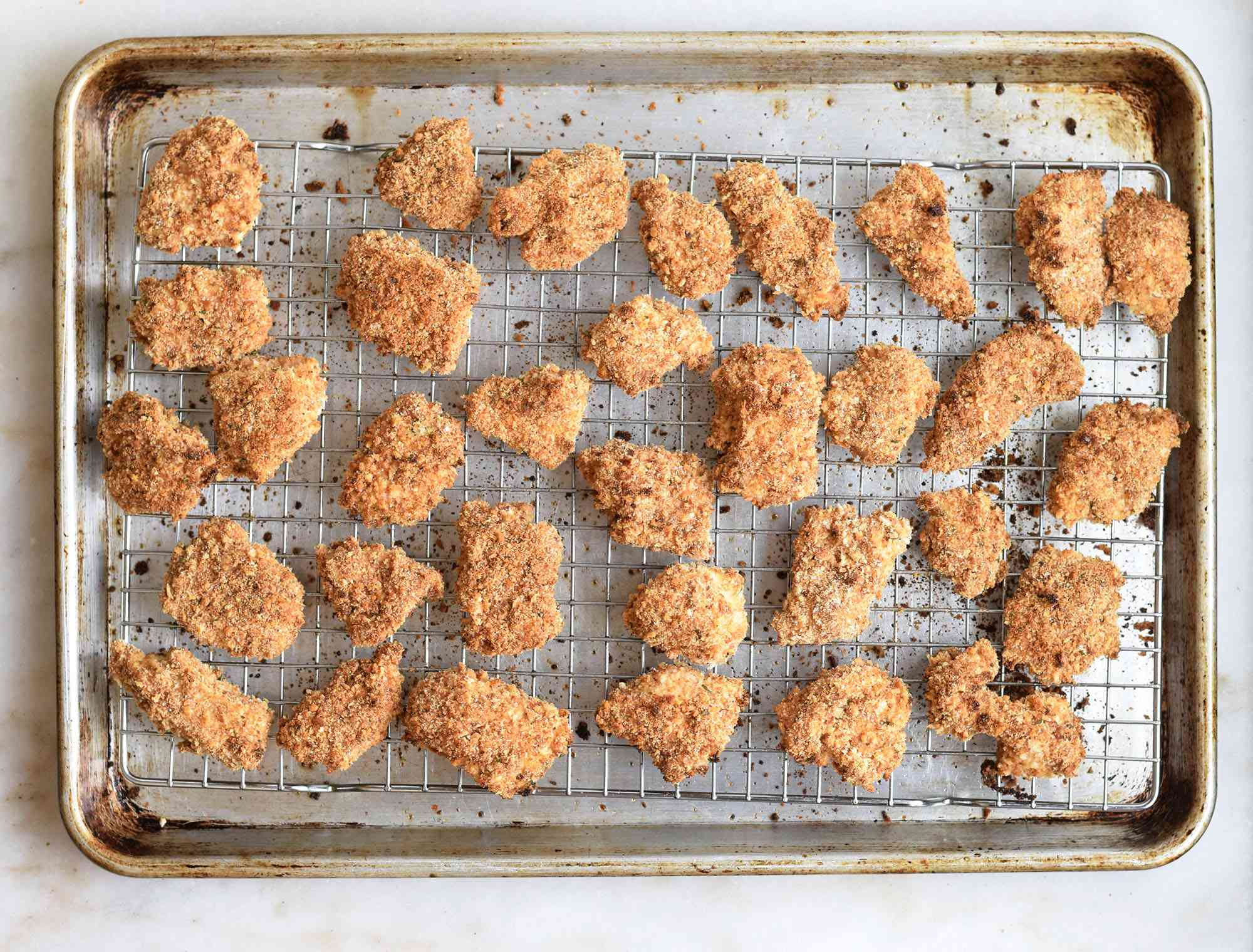 baked spicy chicken nuggets