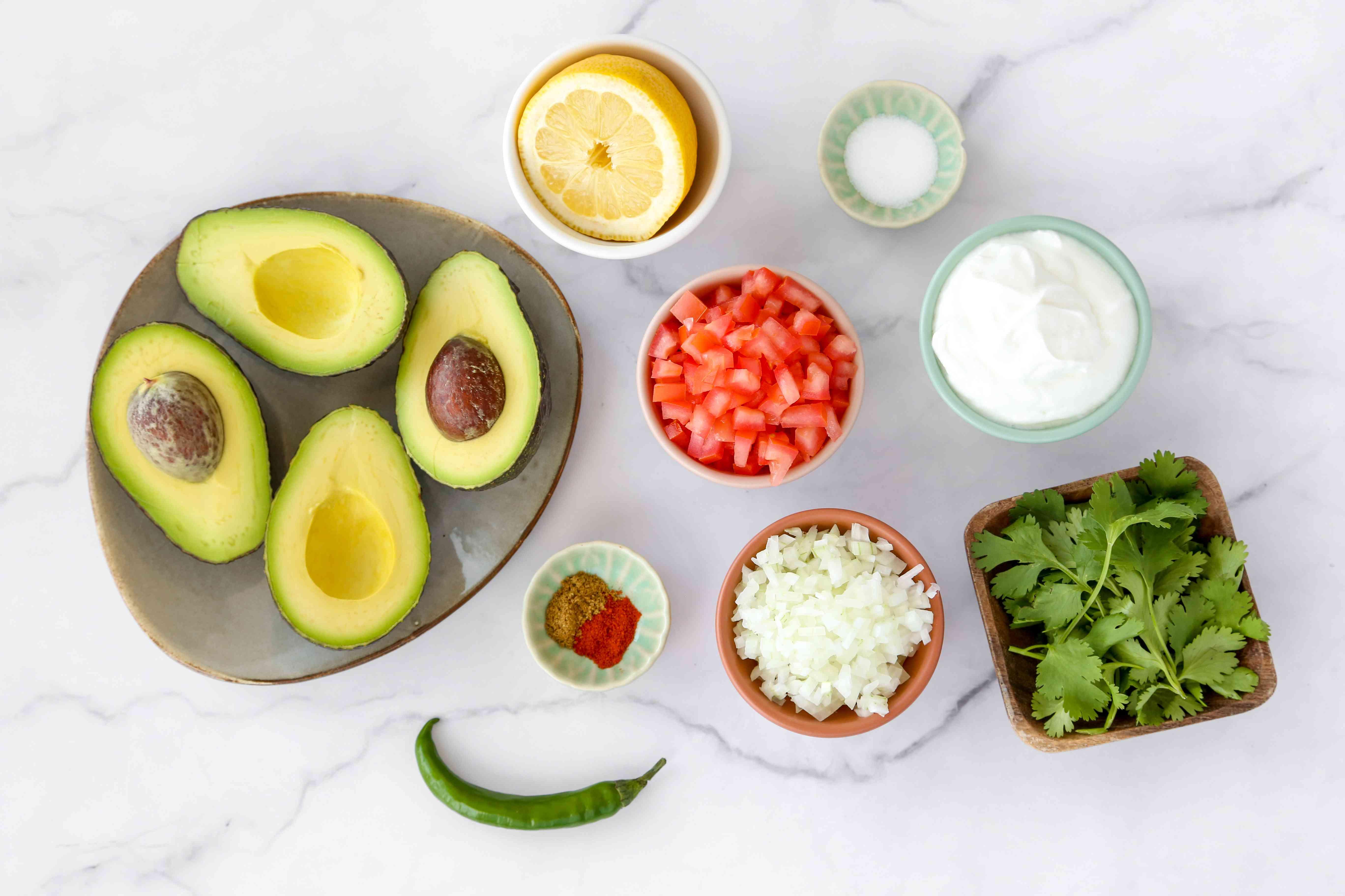 Avocado Raita (Indian Guacamole) ingredients