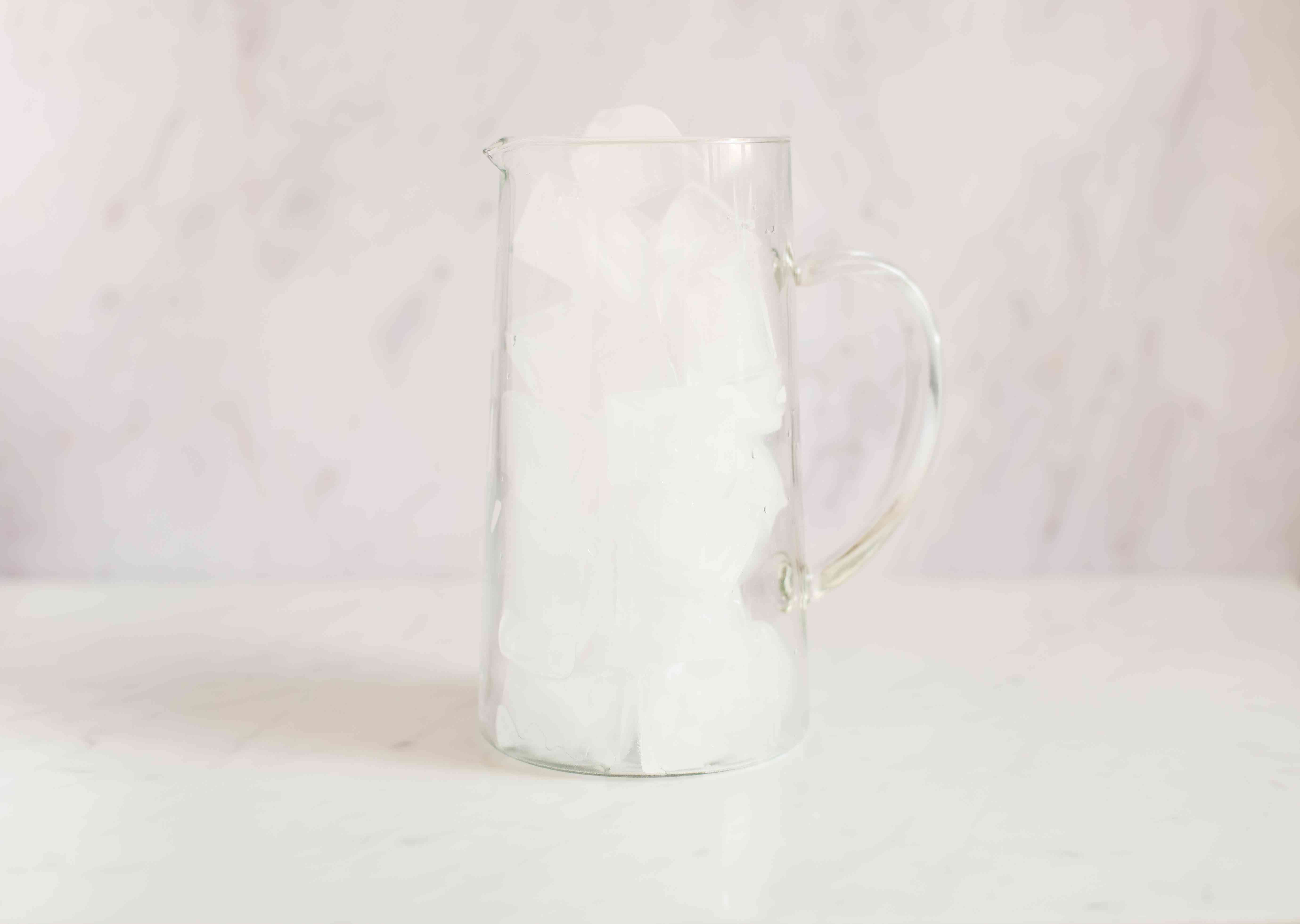 Pitcher filled with ice