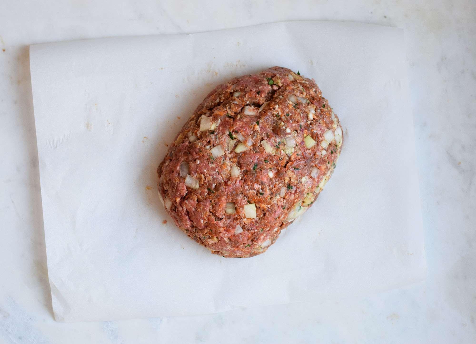meatloaf formed in a loaf