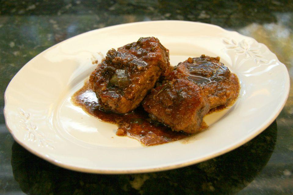 Maple Balsamic Glazed Pork Tenderloin