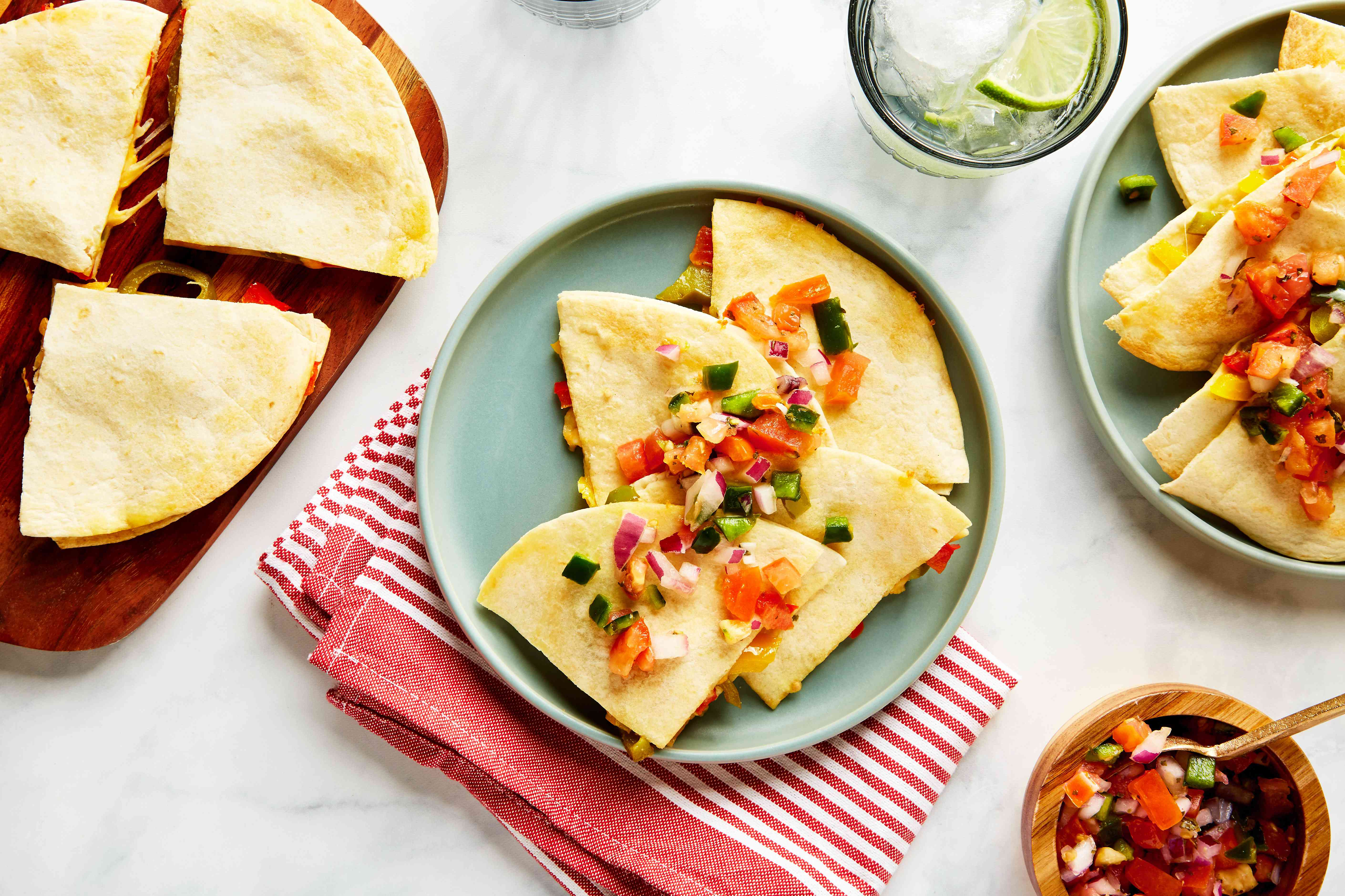 Cheese and bell pepper quesadilla