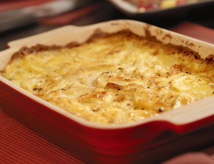 Potato casserole with sour cream and cottage cheese