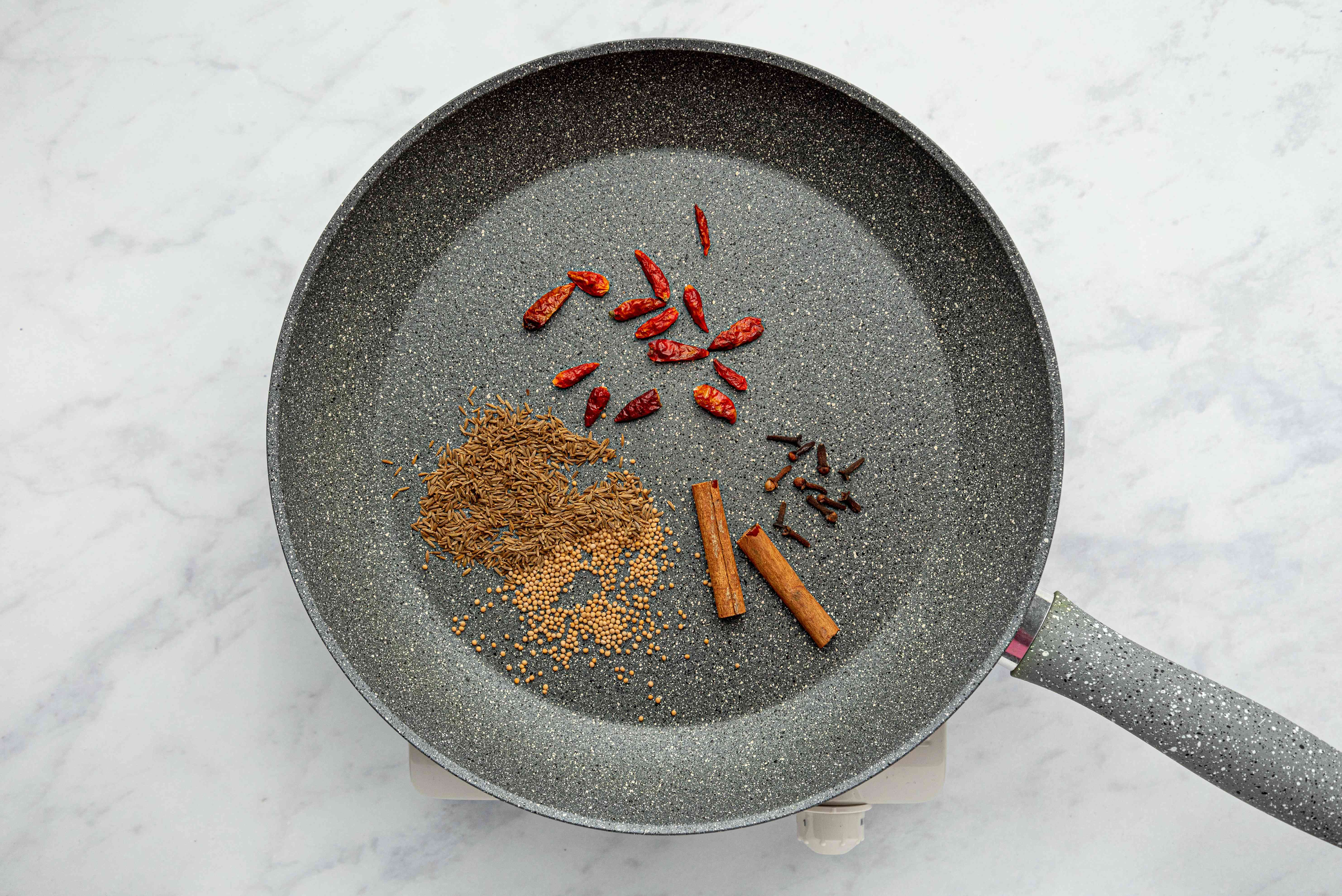 spices in a pan