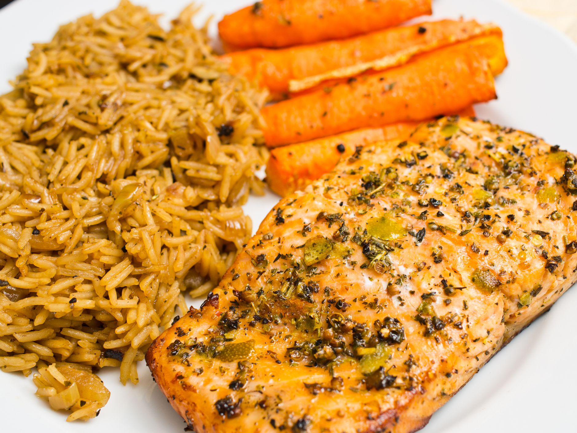Crockpot Salmon With Caramelized Onions And Carrots Recipe