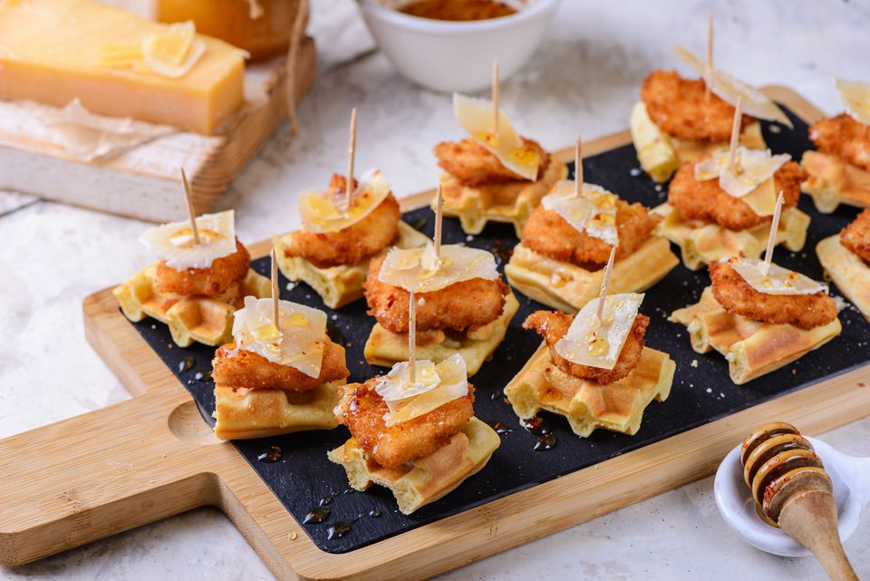Mini chicken and waffles recipe