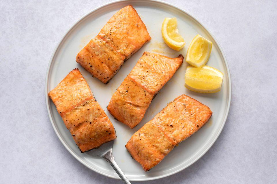 Honey Mustard Salmon With Garlic