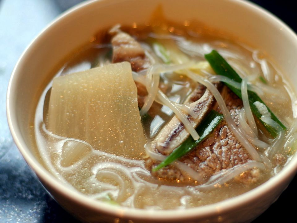 Galbitang (Korean short rib soup)