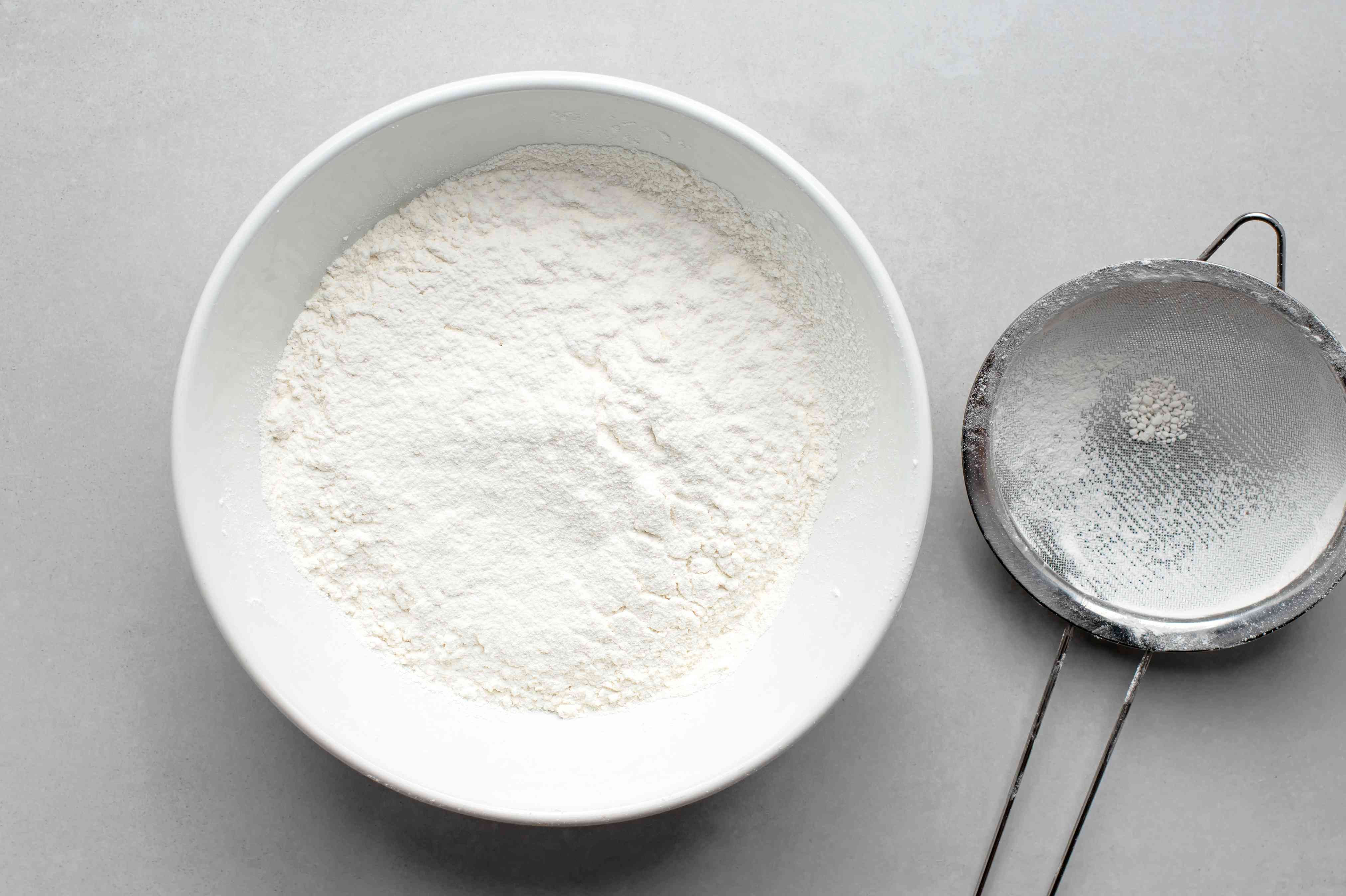 sift flour and salt in a bowl