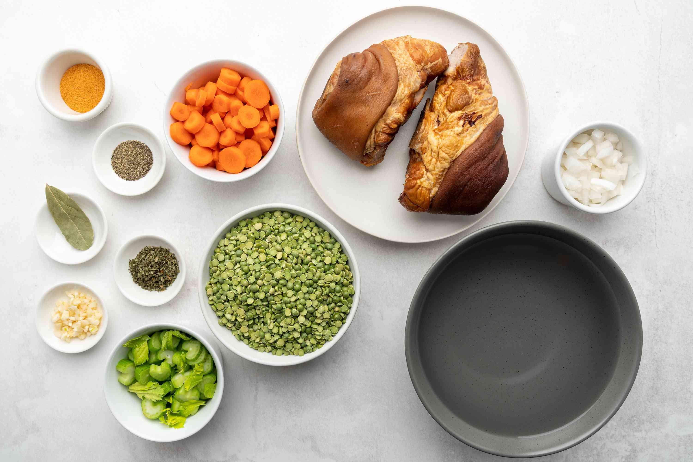 French Canadian-Style Crock Pot Split Pea Soup ingredients