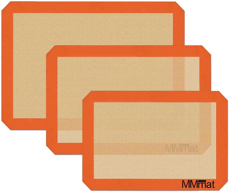 MMmat Silicone Baking Mats, Set of 3