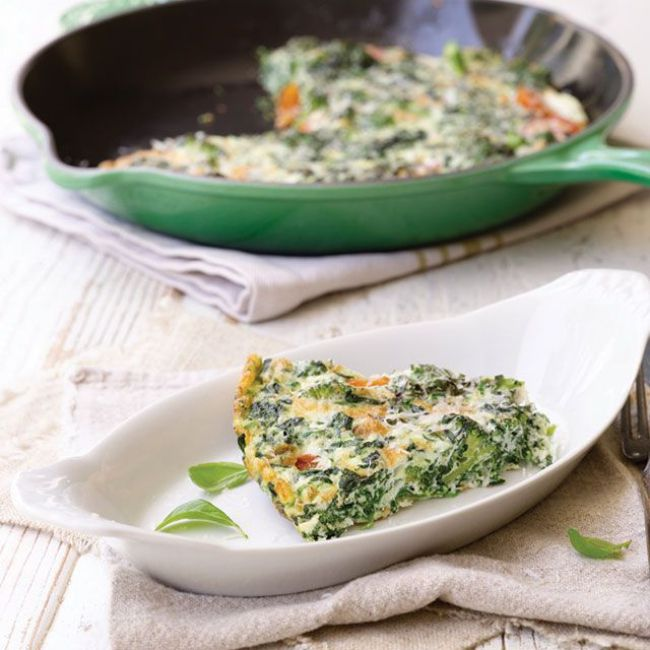 Spinach and Egg-White Frittata