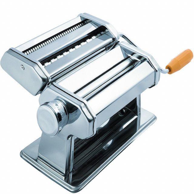OxGord Stainless Steel Fresh Pasta Maker Roller Machine for Spaghetti Noodle Fettuccine