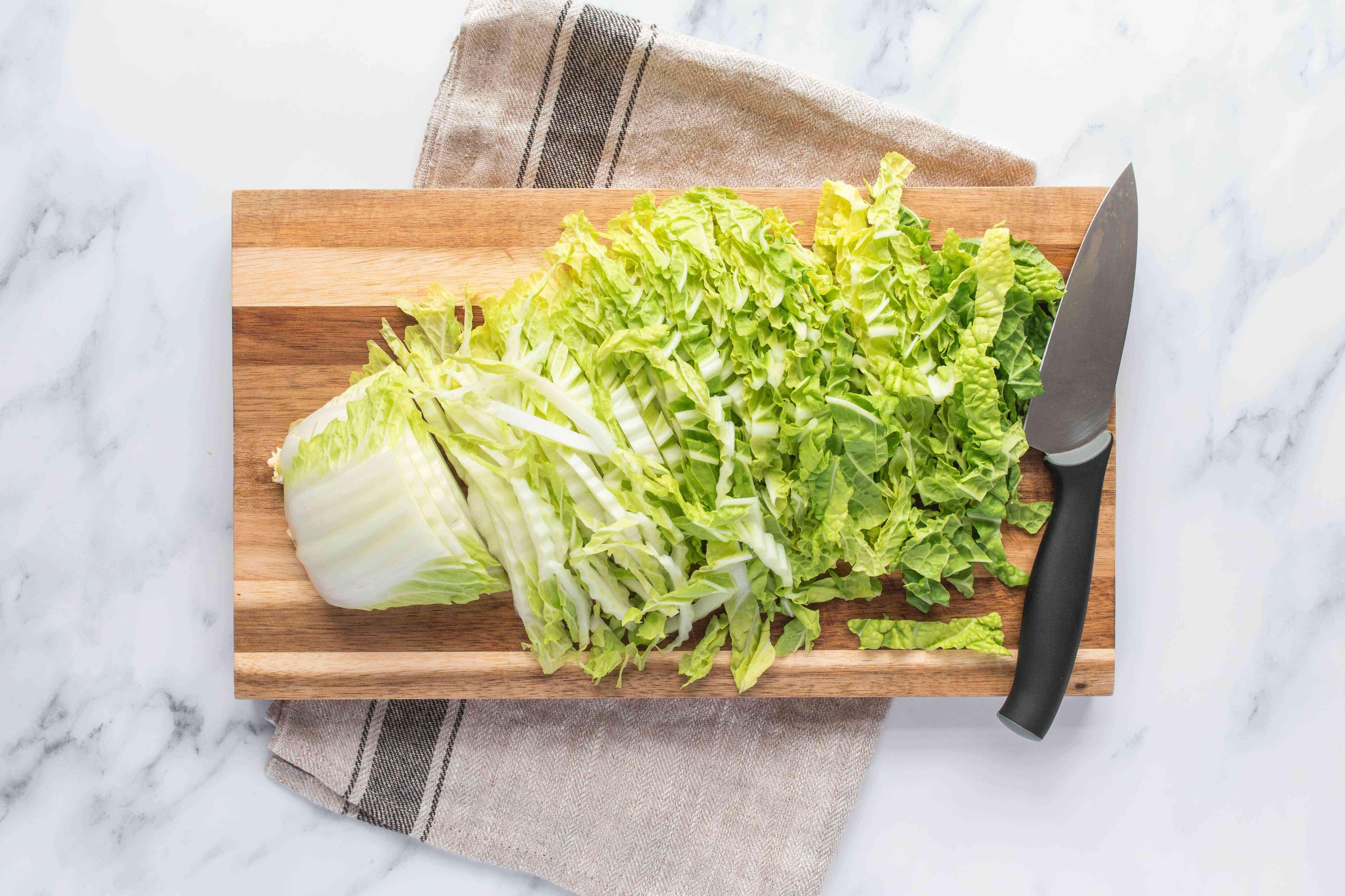 Finely chopped napa cabbage