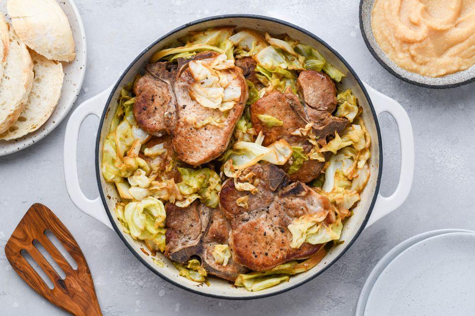 Nancy's Pork Chop and Cabbage Recipe