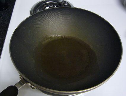 Oil In a Wok