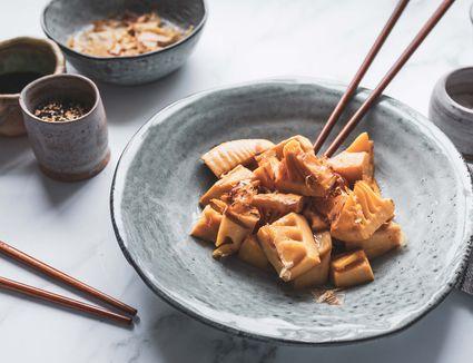 Simmered bamboo shoots takenoko no nimono recipe