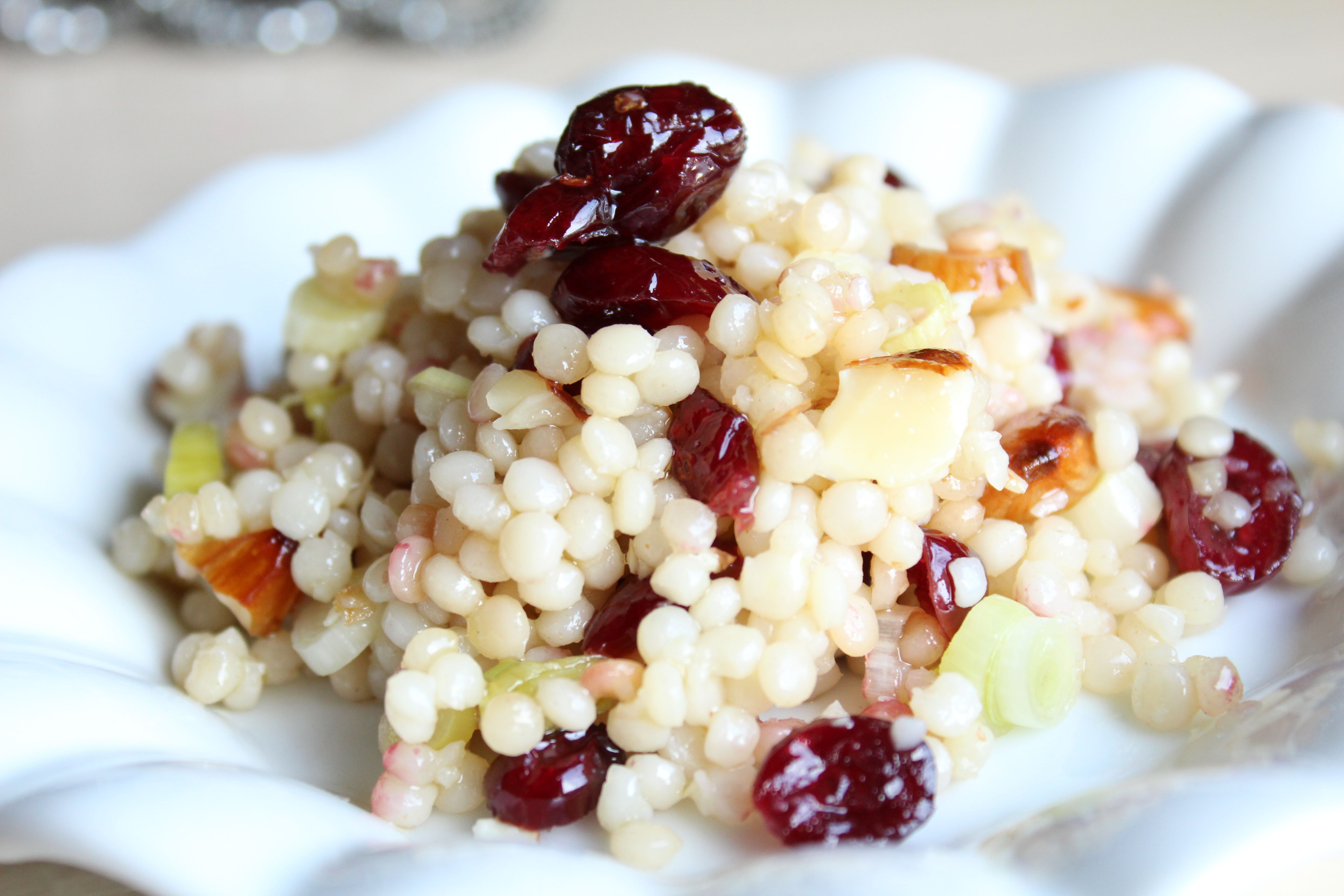 Israeli Couscous With Dried Cranberries and Toasted Almonds