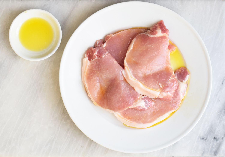 Oil pork chops