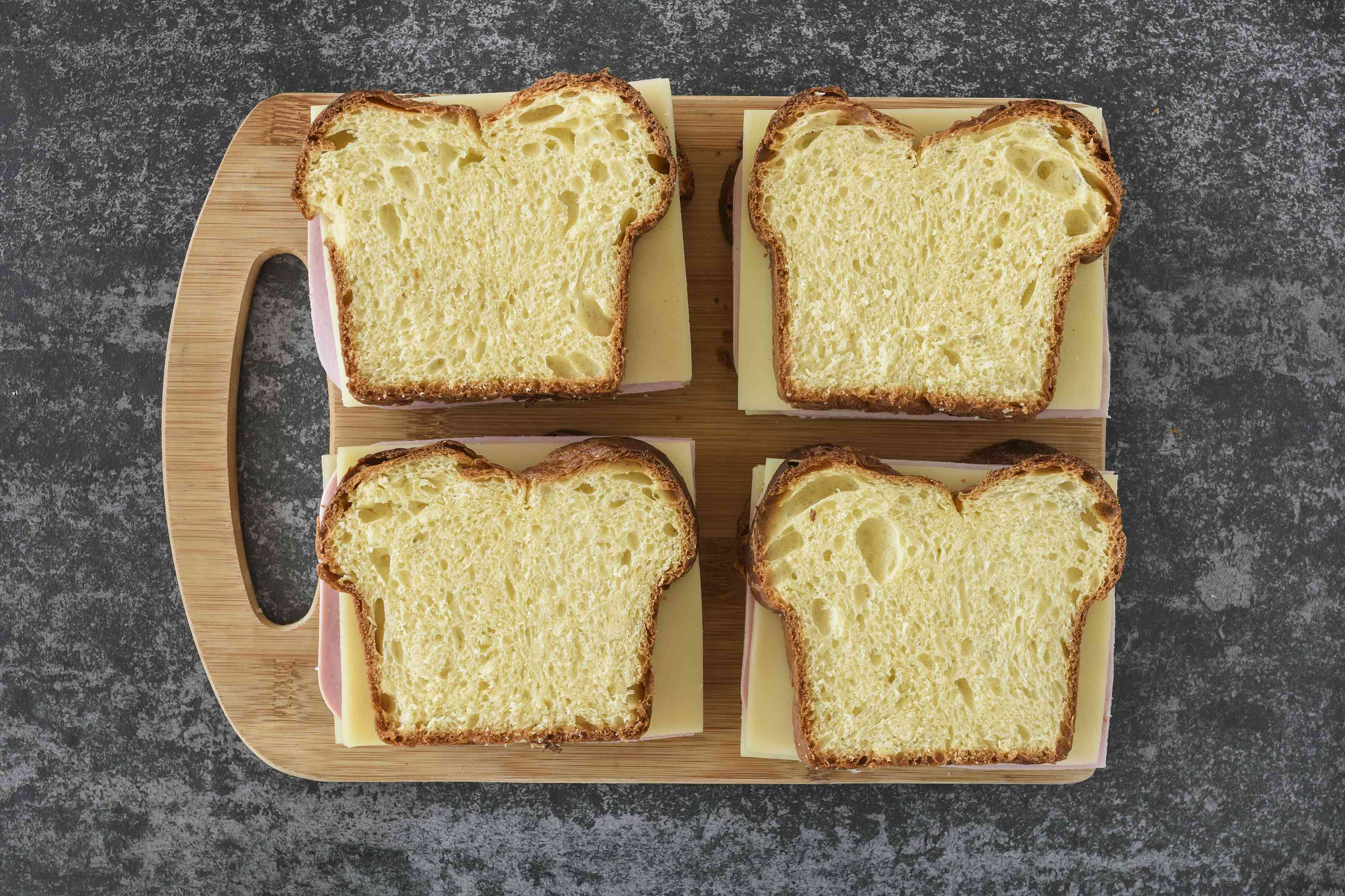 Place Swiss cheese on bread
