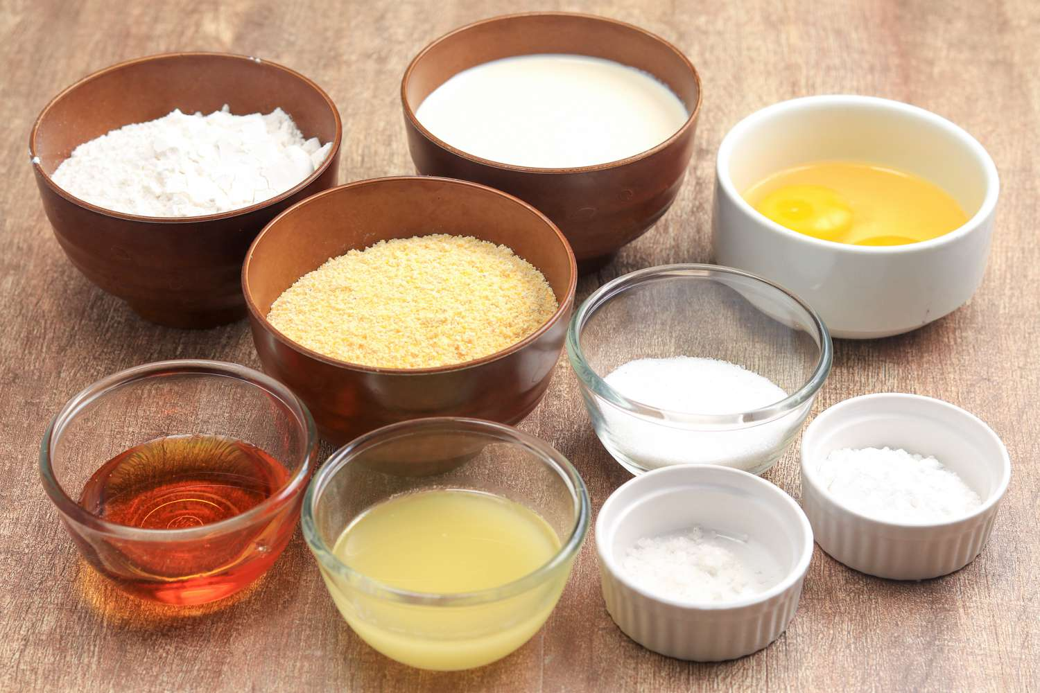 ingredients for basic corn bread